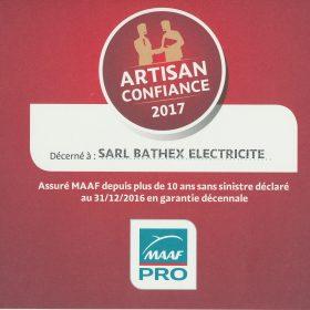 electricien lyon artsan confiance 2017