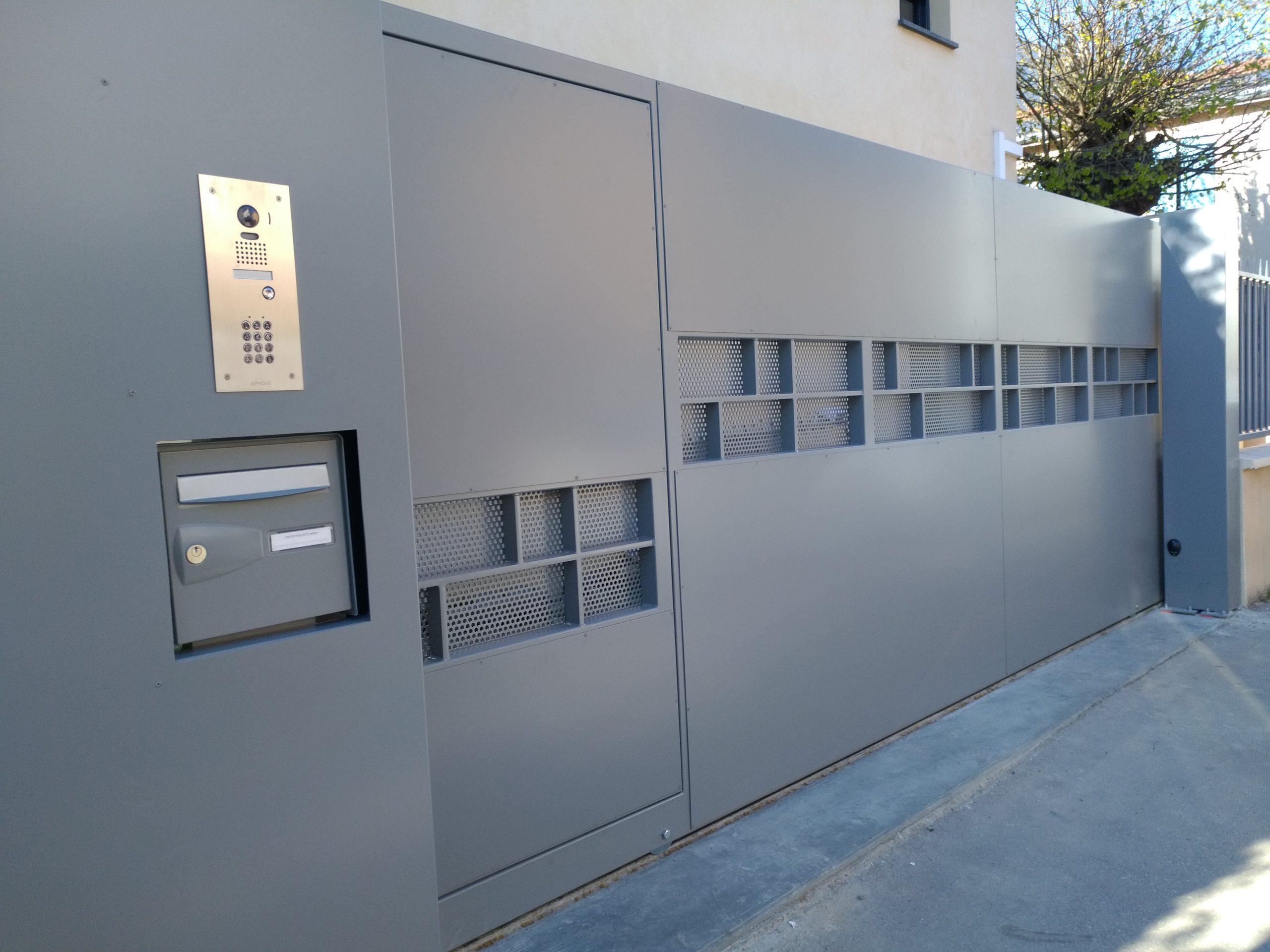 électricien Lyon installation dépannage électricité rénovation motorisation de portail coulissant